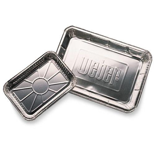 Weber Aluminium druipbakjes Klein, 10 stuks
